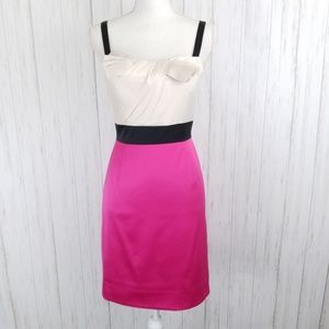 MAX & CLEO Cocktail Dress Pink & Cream SZ 6